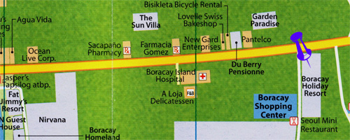 map for boracay holiday